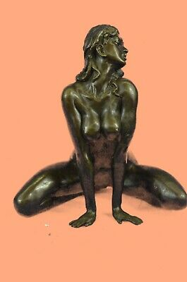 Hot Cast Signed Original Nude Female Bronze Sculpture Handmade Figure