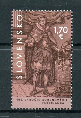 Slovakia 2018 MNH King Ferdinand II Coronation 400th Anniv 1v Set Royalty Stamps