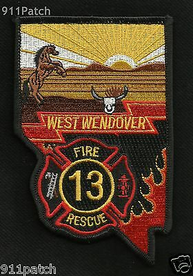 West Wendover, NV - FIRE RESCUE DEPARTMENT 13 FIREFIGHTER PATCH - FIRE DEPT