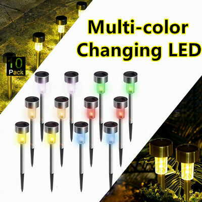 US Color-Changing Solar Lights Outdoor Garden LED Light Landscape/Pathway Lights
