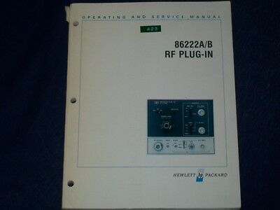 HP Hewlett Packard Agilent 86222A/B Operating and service manual with schematics