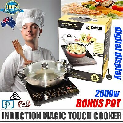 Kavido Magic touch Induction Portable Electric cooker  with bonus pot