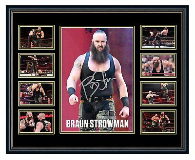 Wwe Braun Strowman Signed Limited Edition Framed Memorabilia