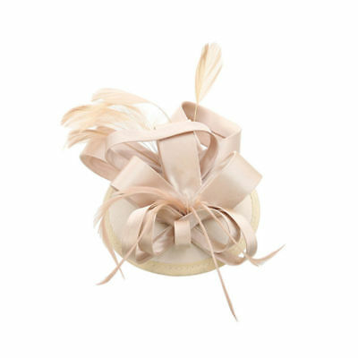 Womens Feather Fascinator Hat Clip Wedding Dacing Party Hair Decor Accessories