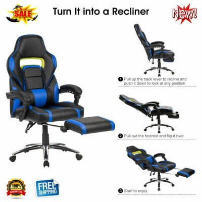 Langria Gaming Office Chair Executive Support Swivel Faux Leather Computer Adjus