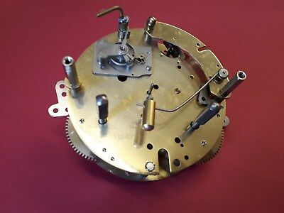 Hermle 8 Day Platform escapement striking clock movement. Type 132.677