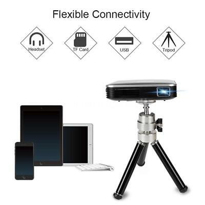 Mini DLP Portable Wired Projector 100 ANSI Lumens Home Theater for Android P8T8