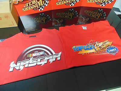"""Jimmie Johnson - Pre-Owned Pair of 2 """"RED"""" T-Shirts (Size 1 Medium and 1 Large)"""