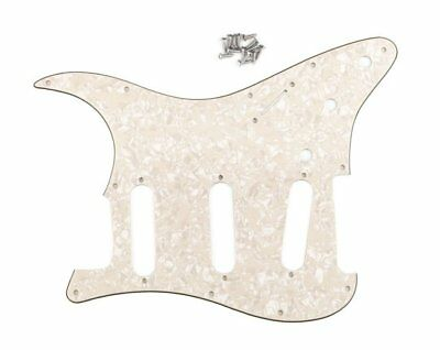 1Pc 3Ply Guitar Pickguard Plate SSS Aged Cream Pearl For Fender Stratocaster ST