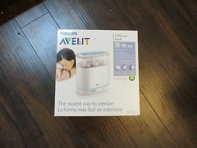 Philips Avent 3-in-1 Electric Steam Sterilizer, BPA Free NIB
