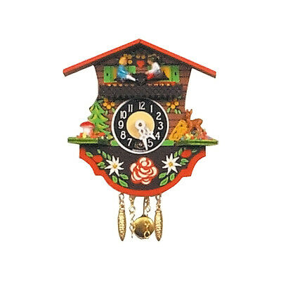 Black Forest Pendulum Clock  Antique Key Wound Clocks Cuckoo Living Room Office