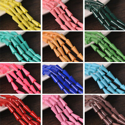 20pcs 16X8mm Exquisite Cone Crystal Glass Teardrop Faceted Loose Spacer Beads