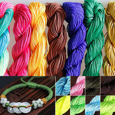 1 Bundle 24m Braided Cord 1mm Beading Thread String Kumihimo Craft Non Stretch