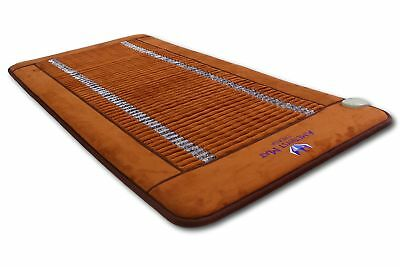 Ereada FIR Amethyst Mat - Negative Ion Infrared Heating Pad - Single 39x75 Brown