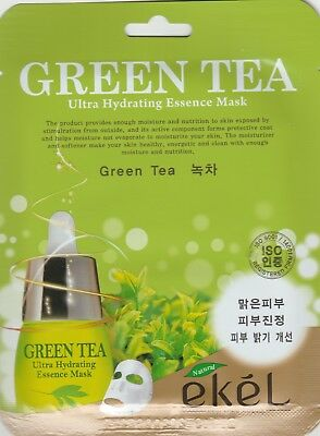 EKEL Ultra Hydrating Essence Mask Korean Masksheet cosmetics GREENTEA 1 pcs