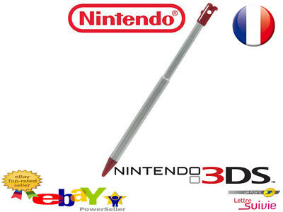 Stylet Nintendo 3DS XL Neuf Rouge Retractable !