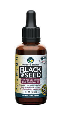 100% Pure Black Seed Oil Edible Cold Pressed Cumin Nigella Sativa Non GMO 1 oz