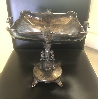 Reed & Barton Victorian Silverplate Figural Centerpiece Bowl 50%OFF