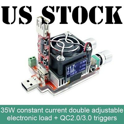 35w USB Electronic Load Adjustable Constant Current Battery Capacity Tester