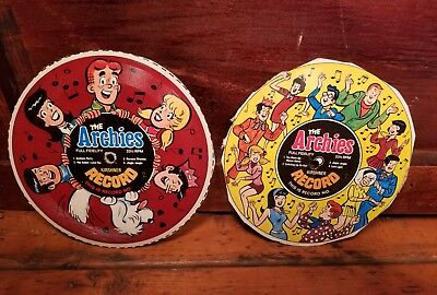Two The Archies Cereal Box Promo Records