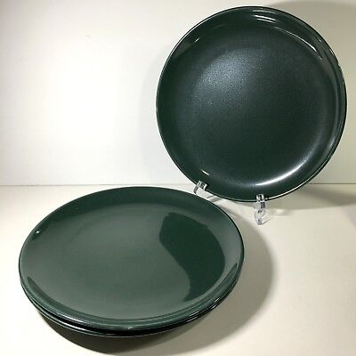 """3 Russel Wright China Iroquois 9"""" Luncheon Plates Parsley Green Mid Century MCM"""