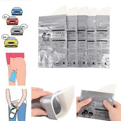 600cc Trave Emergency Mini Toilet for Children Camping Car Disposable Urine Bag.