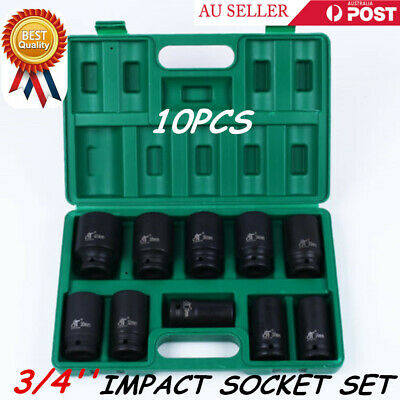 "10pcs/Set 3/4"" Drive Deep Impact Metric Socket Set Car Garage Tools AU Stock"