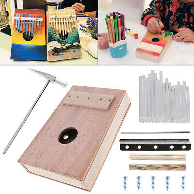 17 Key Kalimba DIY Kit Mahogany Thumb Piano Mbira for Handwork Painting Campaign
