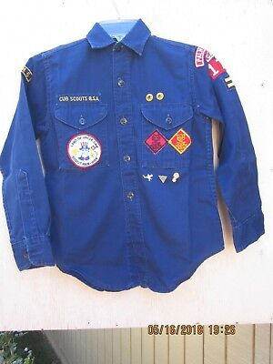 Vintage 1960s Cub Scout Uniform BSA Sanforized Shirt long sleeve Palm Springs CA