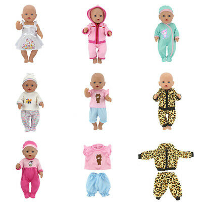 New Baby Born Dolls Jumpsuits Dress For 17 Inch Doll Clothes Doll Accessories