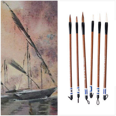 Hot Nylon Hair Paint Brush Set for Watercolor Acrylic Fine Oil Painting Brushes