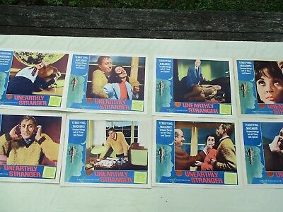 Vintage Original 1964 Unearthly Stranger Movie Lobby Cards - Lot of 8