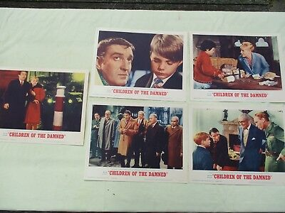 Vintage Original 1964 Children of the Damned Movie Lobby Cards - Lot of 5