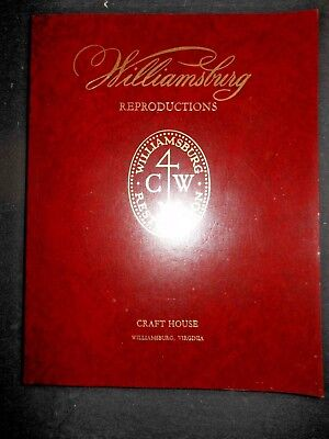 Williamsburg Reproductions 1976 Craft House Catalog Furniture Drapes Price List