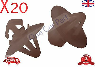 20x Clips For Renault Traffic Trafic Side Moulding / Lower Protection Door Trim
