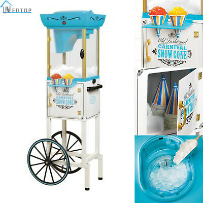 Snow Cone Cart Ice Shaving Vintage Machine Shaved System Maker Shaver Crusher
