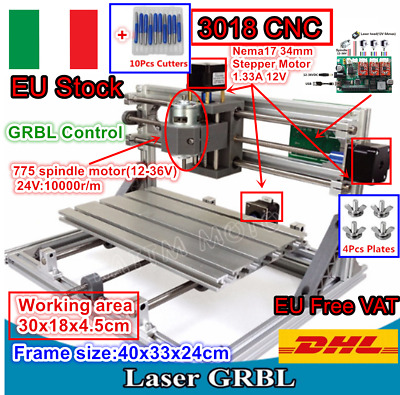 3 Assi DIY Mini 3018 CNC Incisione fresatura macchina Engraver Mill Wood Router