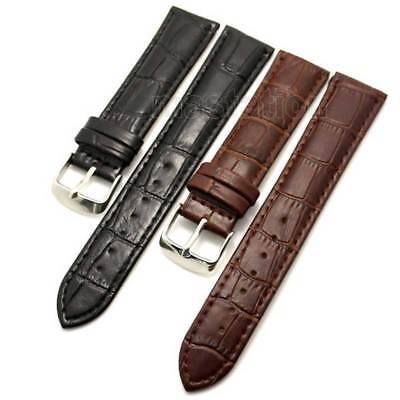 Black/Brown 18/20/22/24/26 mm Band Genuine Leather Wrist Watch Band Strap