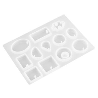 12 Silicone Pendant Mold Making Jewelry Round Necklace Mould to DIY Resin Craft