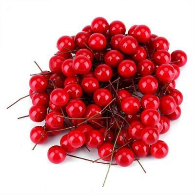Artificial Red Holly Berry Christmas Home Garden Decorations Party Prop Supplies