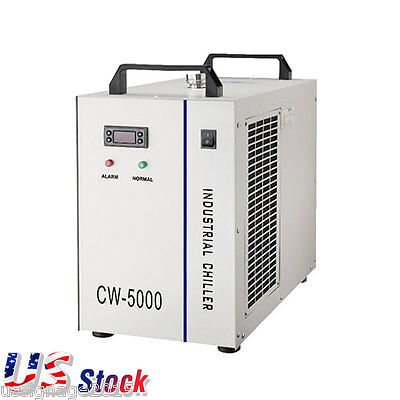 US CW-5000DG Industrial Water Chiller for 80W or 100W CO2 Laser Tube 110V
