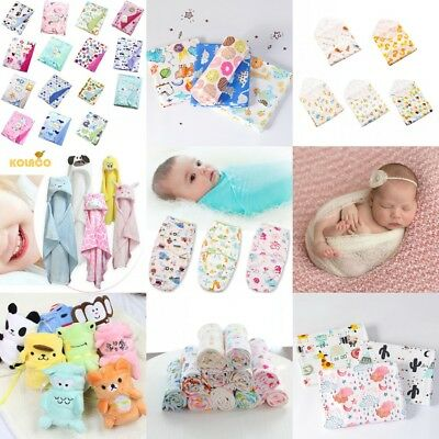 Multi-types Baby Infant Hooded Bathrobe Blanket Kid Toddle Cotton Towel Bath US