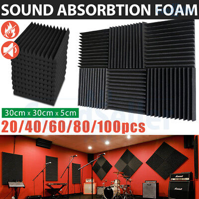 Bulk Sale Studio Acoustic Foam Panel Sound Absorption Proofing Treatment Wedge