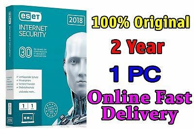 Eset Internet Security 2019 Original 2 Year 1Pc License Key Fast Delivery-Global