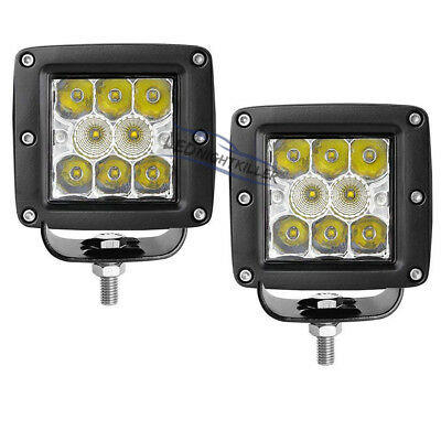 2x48W 3x3 Cube Pod LED Work Light Spot Flood Offroad Driving Jeep Marine RZR 4WD
