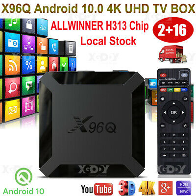 2+16G X96PLUS Android 7.1.2 Nougat S905W Quad Core 4K H.265 TV BOX Media player