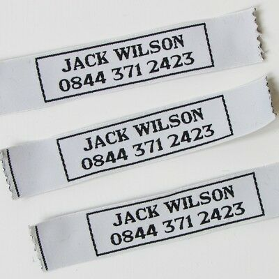 Personalised Large Woven Name Labels Tapes Back To School