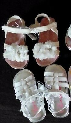 George Girls THREE Pairs of Sandals & M&S girls sparkle trainers Size UK6/EUR23