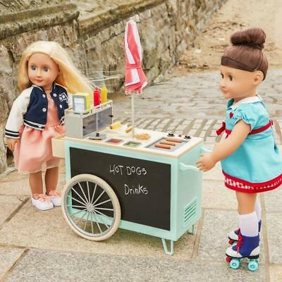 Our Generation Retro Food Stand Diner Dolls Accessories Playset Doll Vehicle Toy