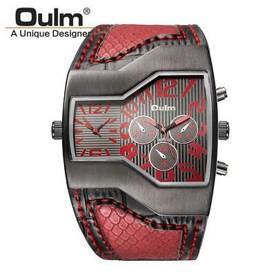 Luxury Quartz Double Time Show Snake Band Casual Male Sports Wristwatch For Men